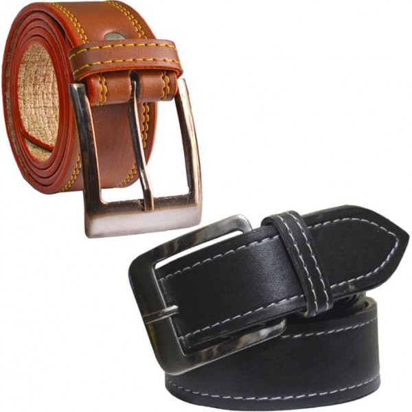 Sun Shopping Men Formal Multicolor Synthetic Belt