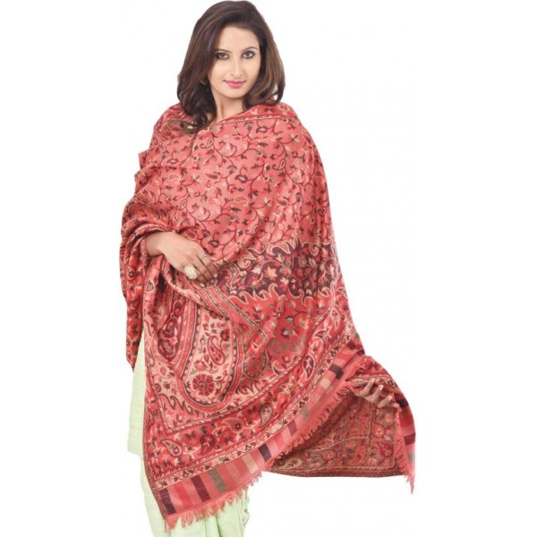 Weavers Villa Cashmere Paisley Women's Shawl  (Multicolor)