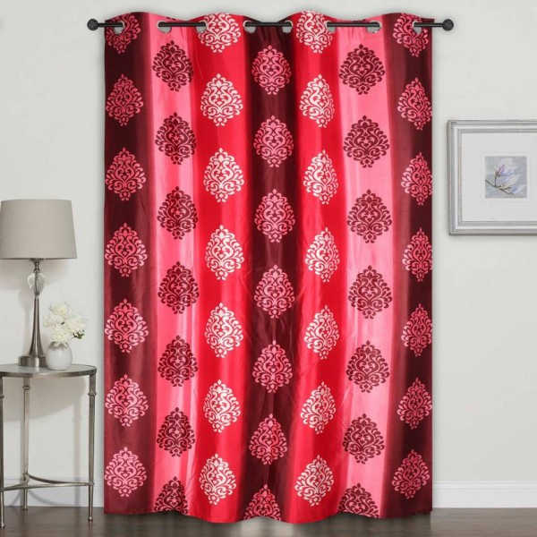 Homely 214 cm (7 ft) Polyester Door Curtain Single Curtain