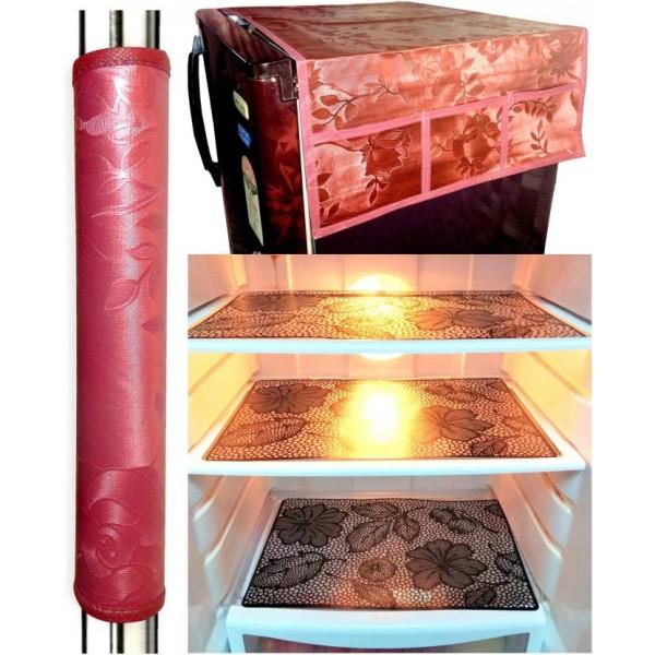 LooMantha Refrigerator Cover  (Multicolor)