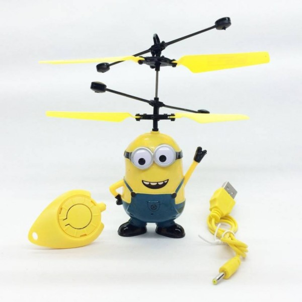 ShopX Minion Helicopter With Infrared Sensor  (Yellow, Blue)