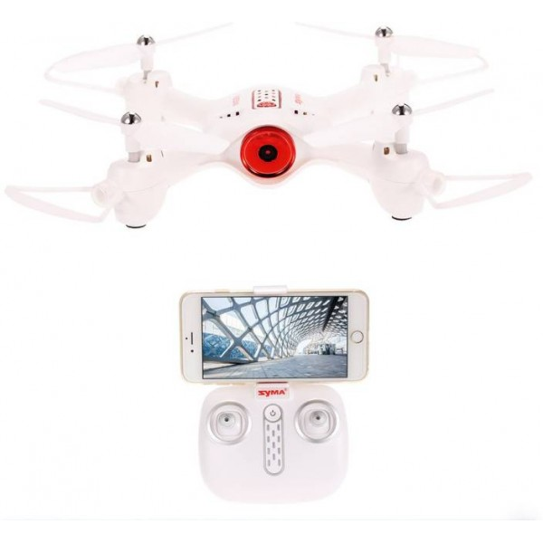 Toy House SYMA X23W Indoor RC Drone FPV 0.3MP Camera / APP Control - SUPPORT WIFI FPV, White  (White)