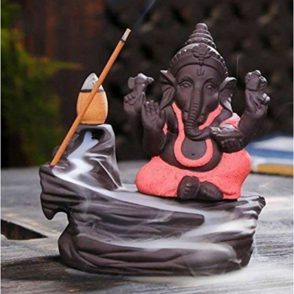 Craft Junction Handcrafted Lord Ganesha Smoke Backflow Cone Incense Holder