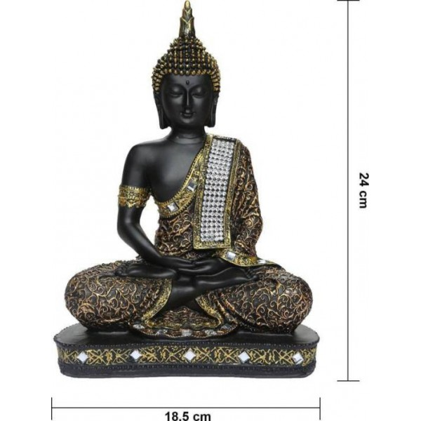 Webelkart Vastu Fangshui Religious Idol of Lord Gautama Buddha Statue Decorative Showpiece - 24 cm  (Polyresin)