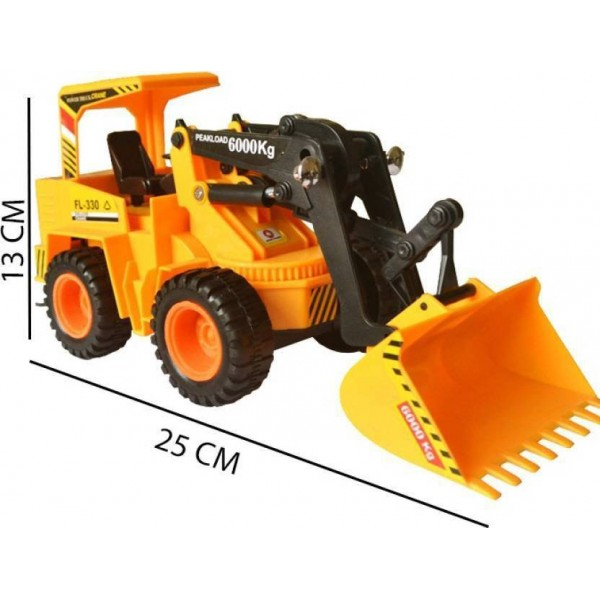 9 Perfect Wired Remote Control Battery Operated JCB Crane Truck Toy  (Yellow)