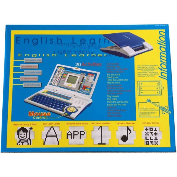 Hariom Enterprise English Learner Educational Laptop Computer With Mouse Gift Toy For Kids  (Blue)
