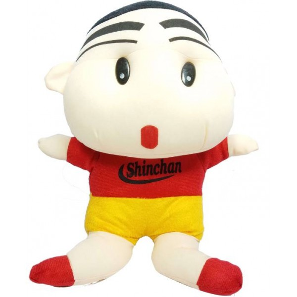 Toy Mela ShinChan Plush Super Cute 35cm Shin Chan Best Cartoon Figure - Soft Toy - 35 cm  (Red)