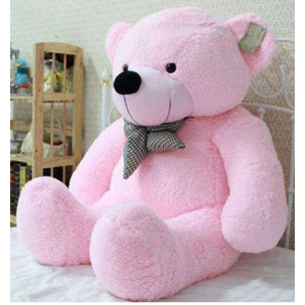 CLICK4DEAL Soft lovable hugable cute teddy bear Pink (best for someone special) - 122 cm  (Pink)