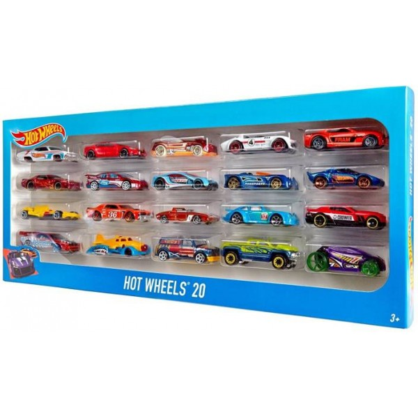 Hot Wheel Pack of 20  (Multicolor)