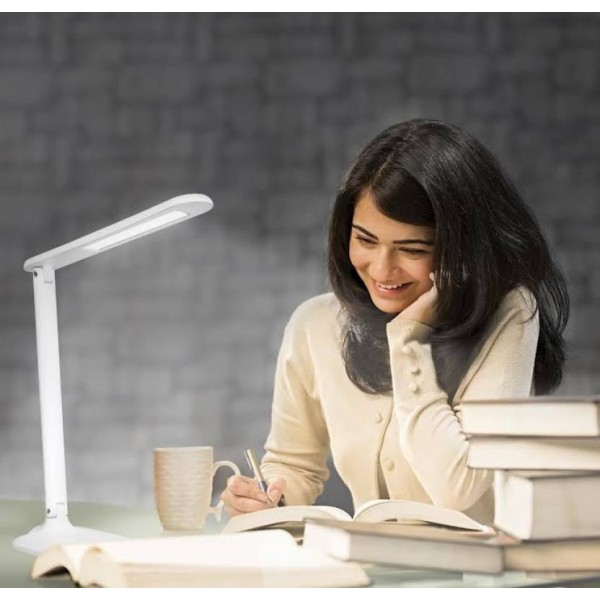 Philips Breeze LED Desk Light Table Lamp  (37 cm, White)