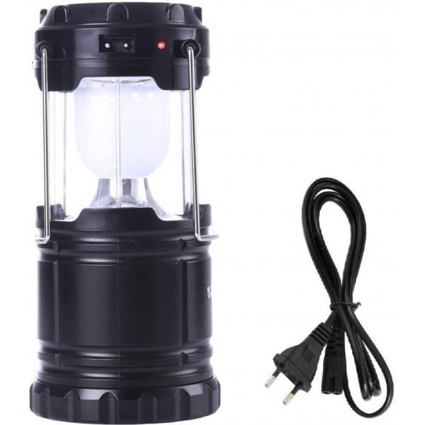Akari AK-5800 Solar Chargeable Emergency Black Plastic Hanging Lantern