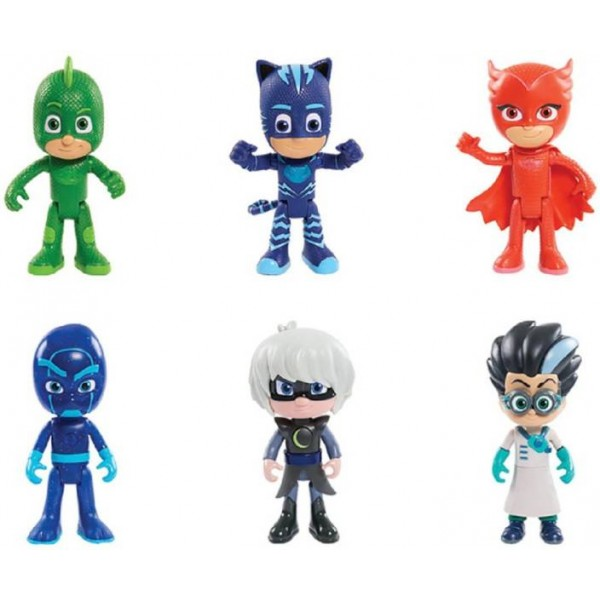 AncientKart PJ Masks Action Figures Set of 6 (3-4 inch)  (Multicolor)