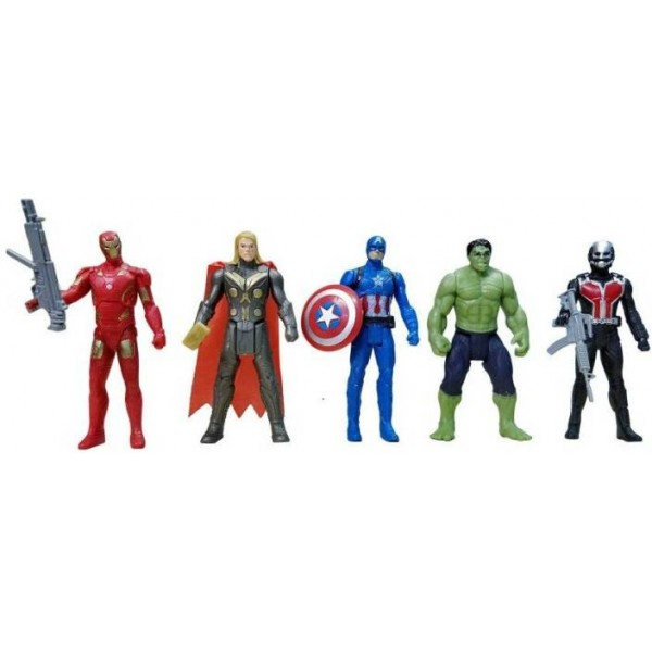 starsky The Team Avengers Set of Five Action Figures (Multicolor)  (Multicolor)