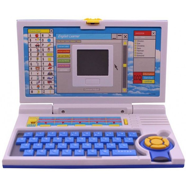 PRESENTSALE The English Learner Laptop for Kids  (Blue)