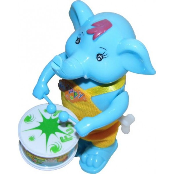 Play King Funny Windup Elephant Drummer Toy  (Multicolor)