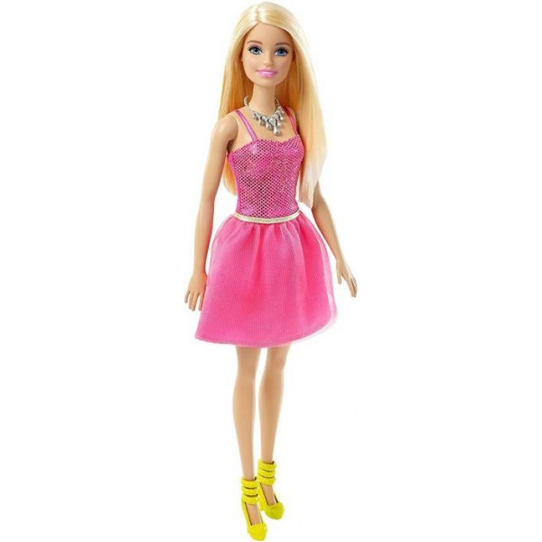 Barbie Glitz Pink Dress  (Multicolor)