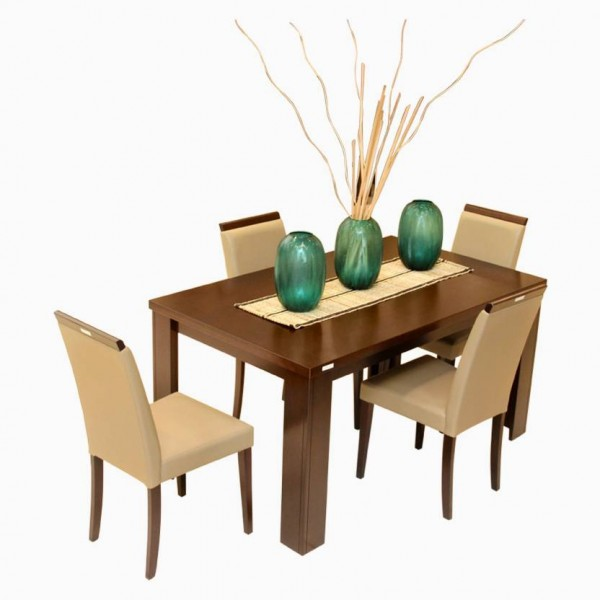 Godrej Interio Jack & Rose Dining Set Engineered Wood 4 Seater Dining Set  (Finish Color - Brownish Black)