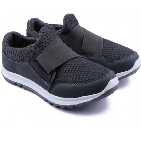 Asian Boys Slip on Running Shoes  (Grey)