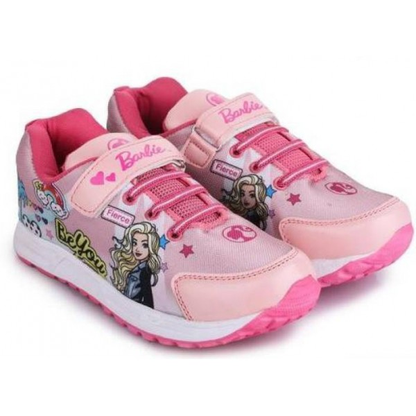 Barbie Girls Velcro Walking Shoes  (Pink)