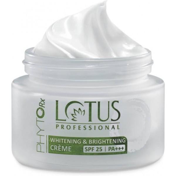 Lotus PROFESSIONAL PHYTO-Rx Whitening & Brightening CREME SPF-25 | PA+++  (50 g)