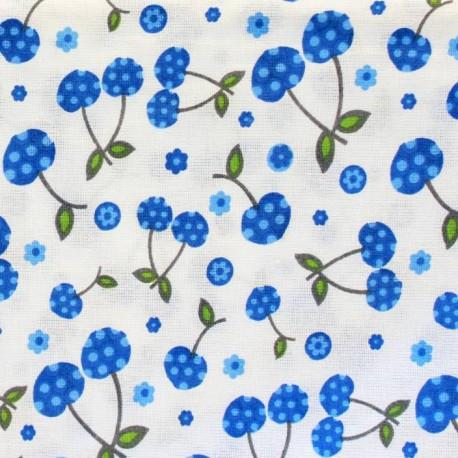 CURL UP 104 TC Cotton Single Floral Bedsheet  (Pack of 1, Blue)
