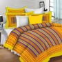 Lali Prints 150 TC Cotton Single Printed Bedsheet  (Pack of 1, Yellow)