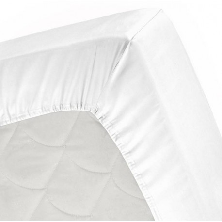 Ahmedabad Cotton 250 TC Cotton, Satin Single Striped Bedsheet  (Pack of 1, White)