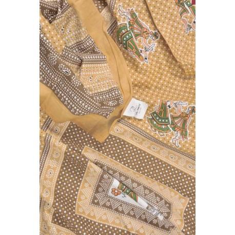 Lali Prints 150 TC Cotton Single Printed Bedsheet  (Pack of 1, Brown)