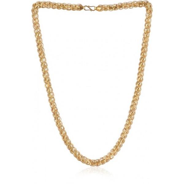 Jisha Lotus Yellow Gold Precious Chain  (22kt)