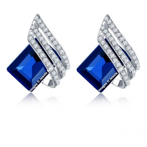 Jewels Galaxy Luxuria Crystal Alloy Clip-on Earring
