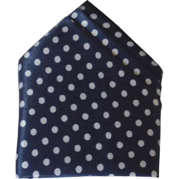 Loopa Polka Print Polyester Pocket Square