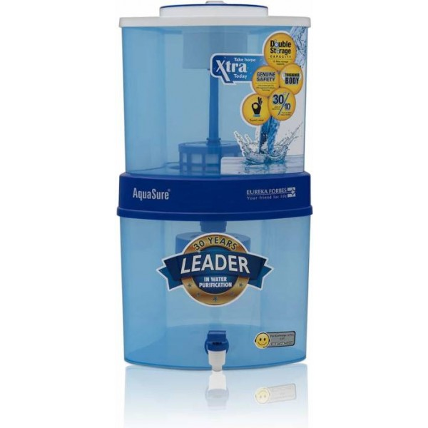 Eureka Forbes Aquasure Xtra Tuff 15 L Gravity Based Water Purifier  (White, Blue)