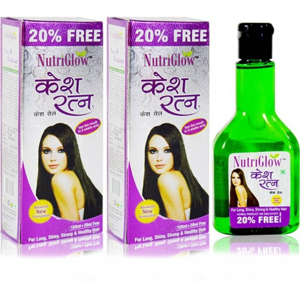 NutriGlow KeshRatan Hair Oil 100ml(Pack Of 2) Hair Oil  (100 ml)