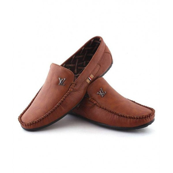 ARRFASHION Brown Loafers