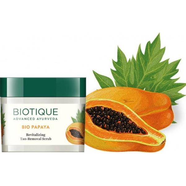Biotique Bio Papaya Revitalizing Tan-removal Scrub  (75 g)