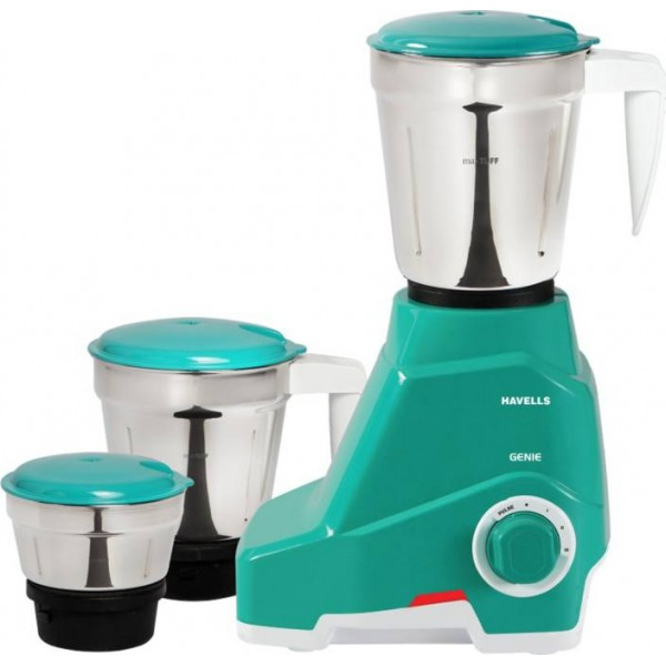 Havells GENIE 500 W Mixer Grinder  (Green, 3 Jars)
