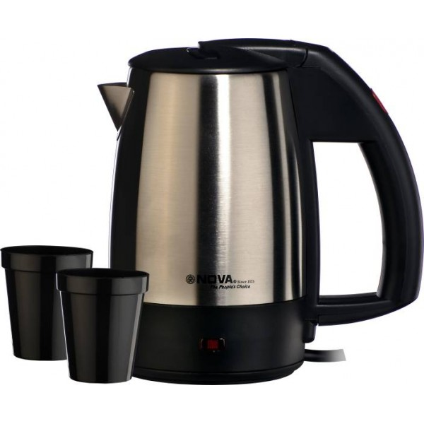 Nova NKT 2738 Electric Kettle  (0.5 L, Black, Steel)