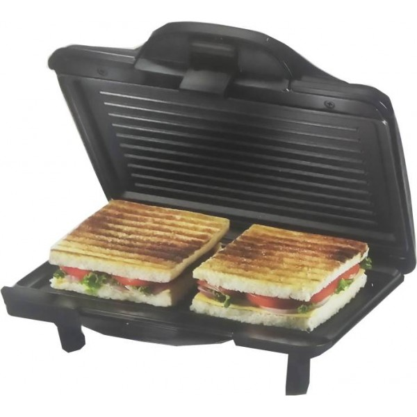 Prestige Sandwich Toaster (PGMFH) With Fixed Grill Plates Grill  (Black)