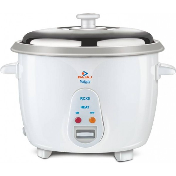 Bajaj Majesty New RCX 5 Electric Rice Cooker  (1.8 L, White)