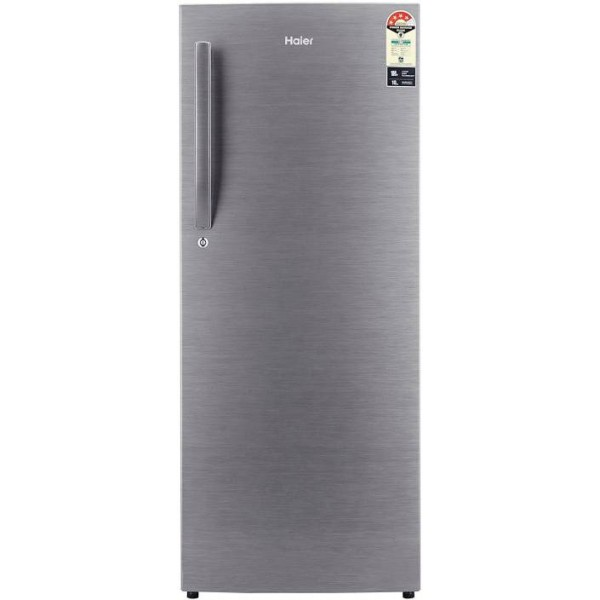 Haier 220 L Direct Cool Single Door 4 Star Refrigerator  (Brushline silver, HRD-2204BS-R/E)