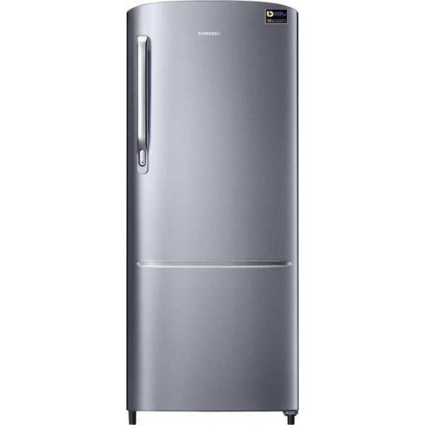 Samsung 212 L Direct Cool Single Door 3 Star Refrigerator  (Elegant Inox, RR22M272ZS8/NL)