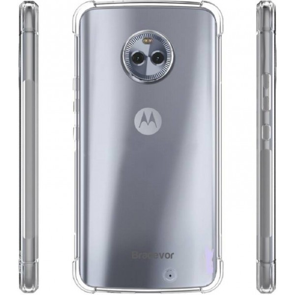 Bracevor Back Cover for Motorola Moto X4  (Transparent, Shock Proof, Silicon)