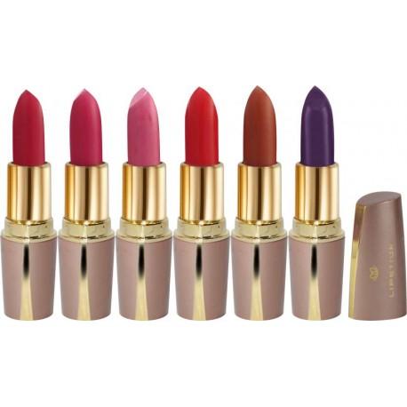 La Perla Laperla Glamours Hot Kis Lip Lipstick Pack of 6  (LAP-1)