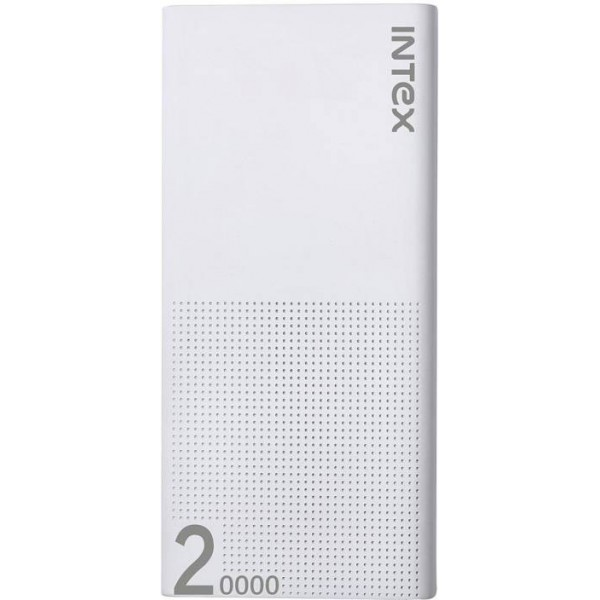 Intex 20000 mAh Power Bank (IT-PB 20K Poly)  (White, Lithium Polymer)