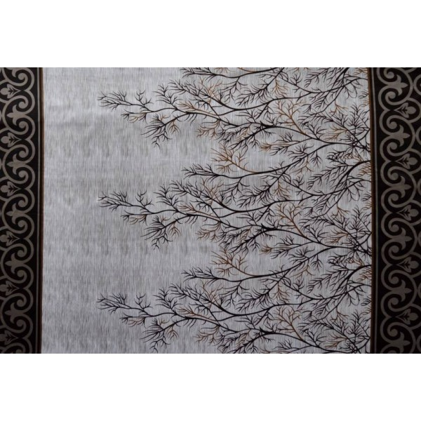 Home Sizzler 214 cm (7 ft) Polyester Door Curtain (Pack Of 2)  (Floral, Brown)