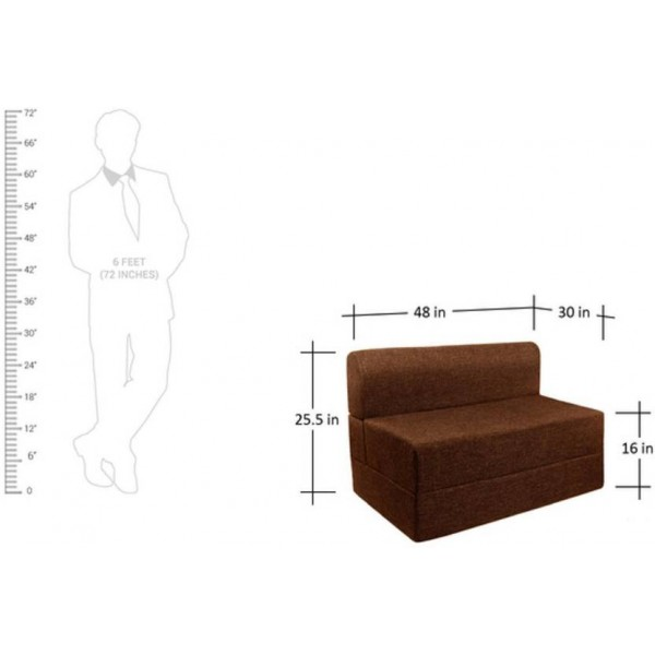 Springtek Sofa Cum Bed Single Fabric Sofa Bed  (Finish Color - Brown Mechanism Type - Fold Out)