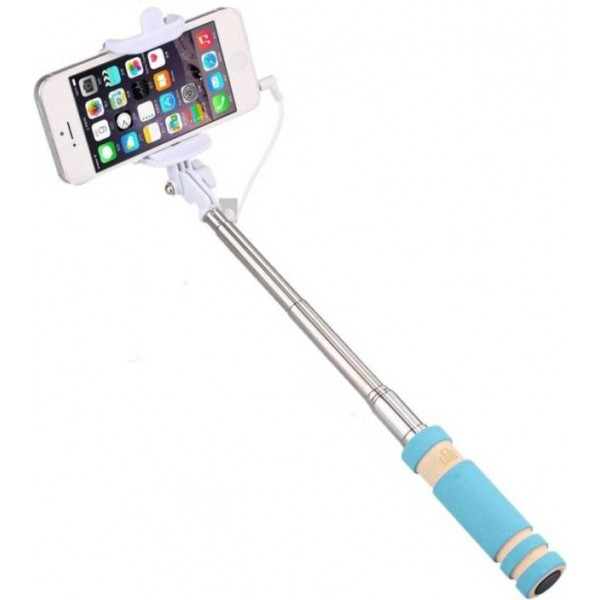 KG Collection Cable Selfie Stick  (Blue)