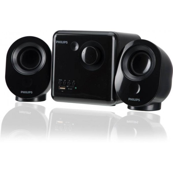 Philips SPA150/94 7 W Laptop/Desktop Speaker  (Black, 2.1 Channel)