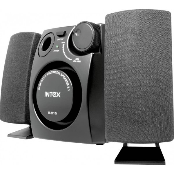 Intex IT- 881S 16 W Laptop/Desktop Speaker  (Black, 2.1 Channel)