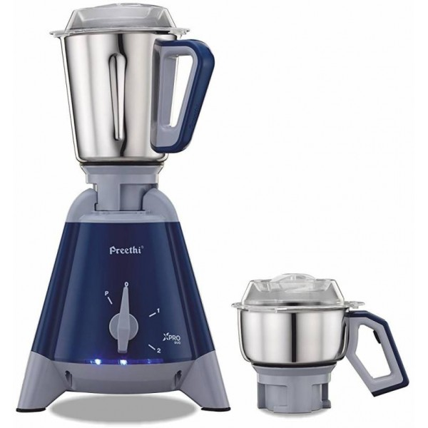 Preethi Xpro Duo MG 198 1300 W Mixer Grinder  (Blue, 2 Jars)